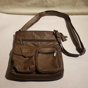 Brown leather cross body new without tags